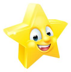 Star Emoji Emoticon Mascot