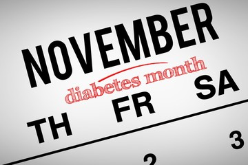 Composite image of diabetes month