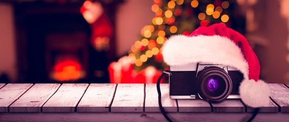 Composite image of christmas camera