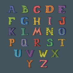 Vector alphabet set. Hand drawn letters