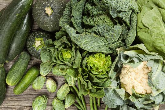 Assortment of green vegetables