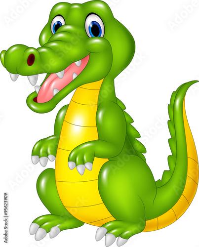 quotcartoon cute crocodilequot fichier vectoriel libre de droits