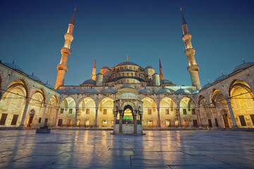 Blue Mosque. Image of the Blue Mosque in Istanbul, Turkey during twilight blue hour.