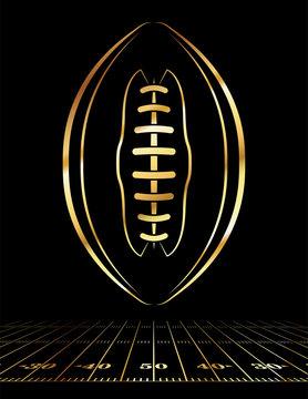 American Football Golden Icon Illustration