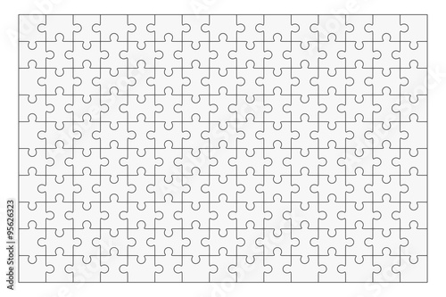 "Jigsaw Puzzle Maker >> ""Jigsaw puzzle blank template 150 pieces"" Stock image and royalty-free vector files on Fotolia ..."