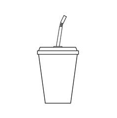 Soft Drink Cup, a hand drawn vector illustration of a soft drink cup.