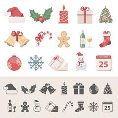 Flat Icons - Christmas