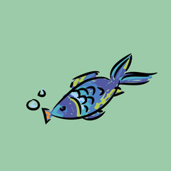 cartoon fish picture hand drawn