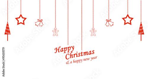 Quot verschiedene weihnachtssymbole hängen von der decke
