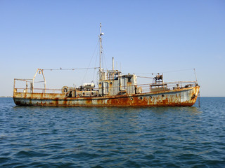 Old rusty ship