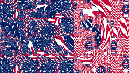 Muster - Flagge der USA