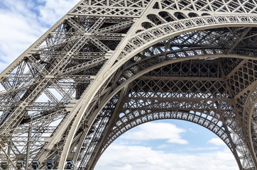 Part of the the Eiffel Tower.