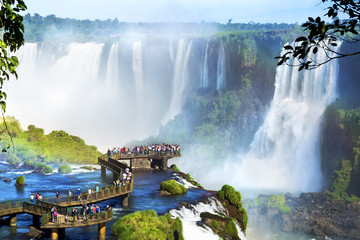 Iguazu Falls, on the border of Argentina and Brazil Wall mural