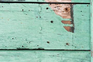 turquoise weathered wood surface