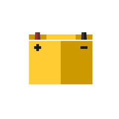 car battery flat color icon vector