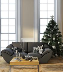 Christmas Tree Next To Window