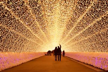 light tunnel in winter illumination, Mie, Japan