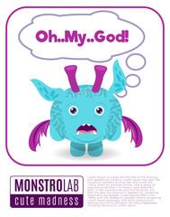 Illustration of a monster saying omg