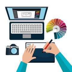 Graphic design art and profession theme