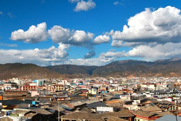 The beautiful view in  Shangri-La, formerly known as Zhongdian County, is the capital of Diqing Autonomous Prefecture.Yunan, China