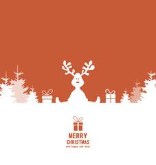 Weihnachtskarte Elch