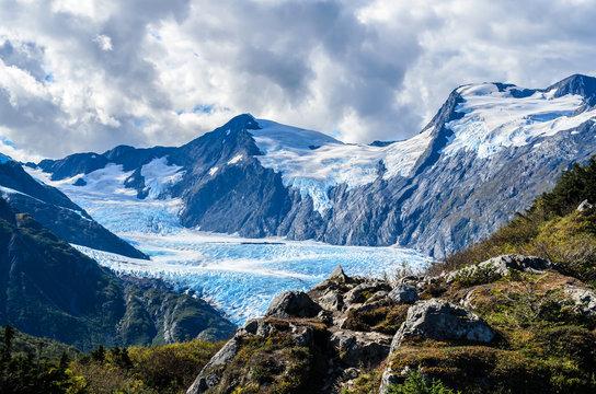 Portage Glacier from  Portage Pass, Whittier, Alaska