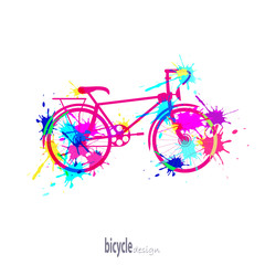 bike with blots