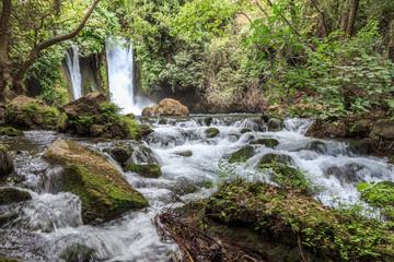 Golan Heights. Banias Nature Reserve. Banias Waterfall