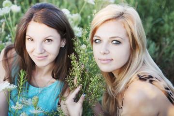 girlfriends in flower