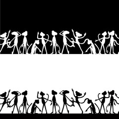 the background silhouettes of monkeys funny cartoon
