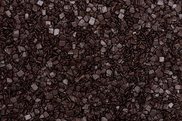 Macro texture of chocolate sprinkles