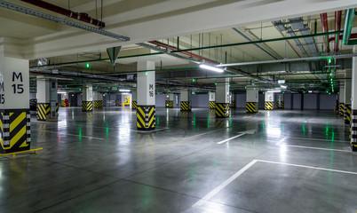 Empty parking lot wall