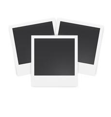 Vintage photo frames isolated on white background. Vector illustration.