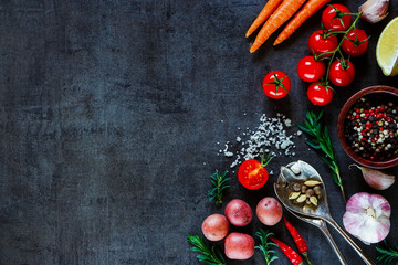 Organic vegetables for cooking