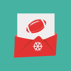 Christmas Mail, over green color background