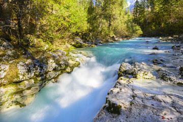 Great canyon of Soca river, Slovenia