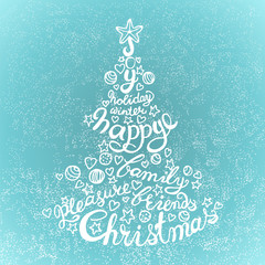 Vector Holiday concept lettering