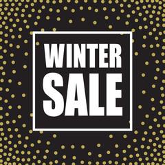 Winter sale design template. Vector illustration