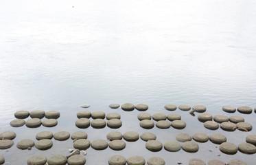 川の造形 背景素材