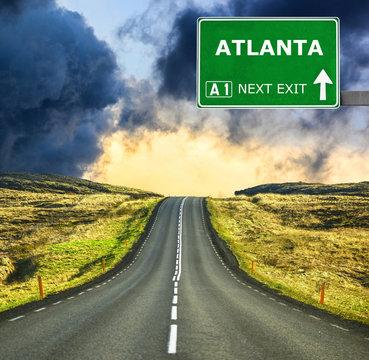 ATLANTA road sign against clear blue sky