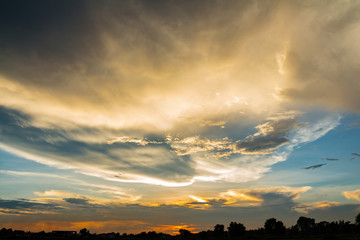 Sunset sky abstract for background