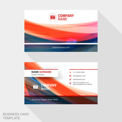 Modern Creative and Clean Business Card Template with Abstract Wave Background. Vector Illustration
