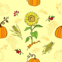 Seamless pattern Thanksgiving