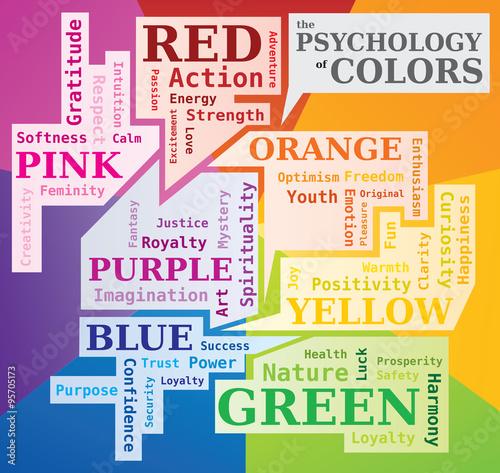 psychologie des couleurs nuage de mots signification des couleurs outil stock image and. Black Bedroom Furniture Sets. Home Design Ideas