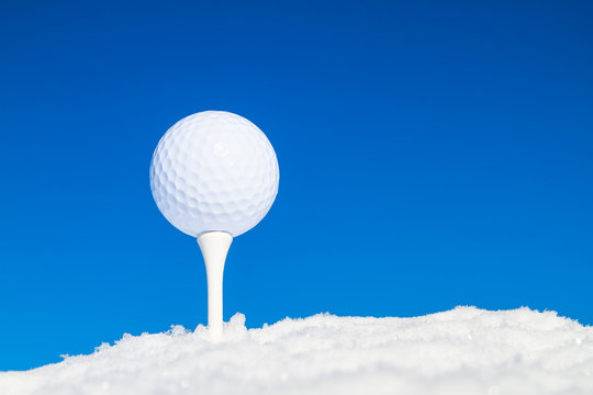 Extreme Golf in winter