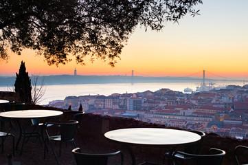 Viepoint at restaurant. Lisbon, Portugal