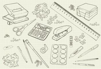 illustration monochrome handwritten stationery