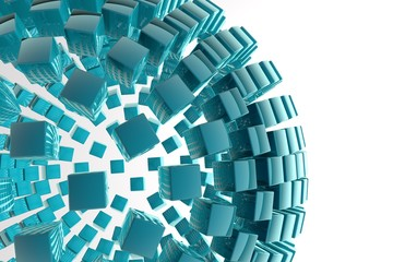 3D abstract advanced technology background, motion sphere