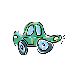 cartoon car picture hand drawn