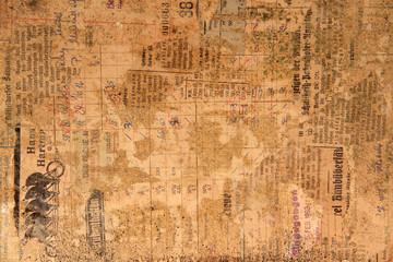Hintergrund aus altem Papier und Zeitung